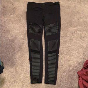Alo Yoga Black Moto Leggings Size L